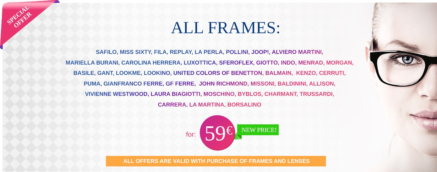 Special offer for Frames